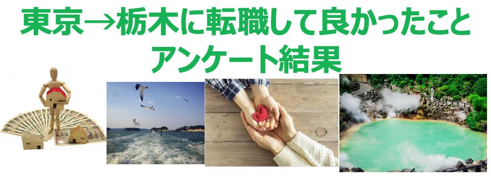 栃木転職メリットアンケート